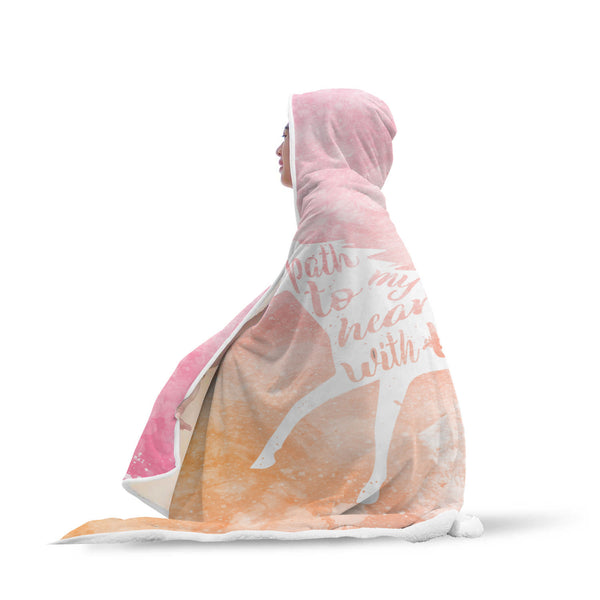 Watercolor Equestrian Hooded Blanket-Hooded Blankz