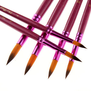 12Pcs/Lot Nylon Hair Artist Paint Brushes