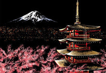 Load image into Gallery viewer, Scratch Art - Mount Fuji