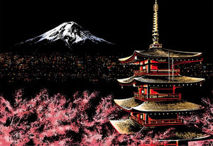 Scratch Art - Mount Fuji