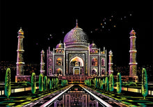 Load image into Gallery viewer, Scratch Art - Taj Mahal
