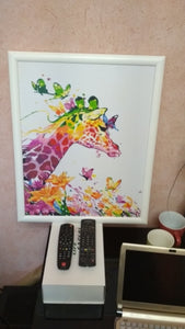 Colourful Giraffe DIY Paint By Numbers kit