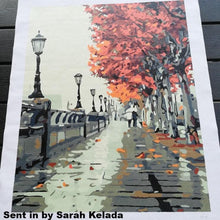 Load image into Gallery viewer, Autumn Street Landscape DIY Painting By Numebrs Kit