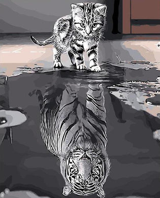 Reflection Cat DIY Painting