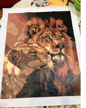 Load image into Gallery viewer, The Lions DIY paint by numbers Kit