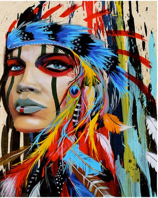 Abstract Native Indian Women