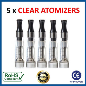 EGO CE4 ATOMIZERS/CLEAROMIZERS (5 PACK)