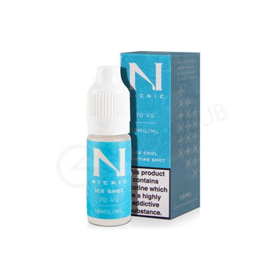 1 x Nic Nic Ice Cool Shot 10ml £1.50 (Add 1 Shot in 50ml Shortfill E-juice = 3mg)