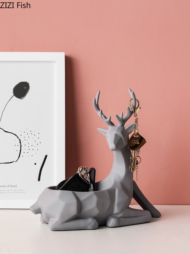 Geometric Patterned Animal Decor
