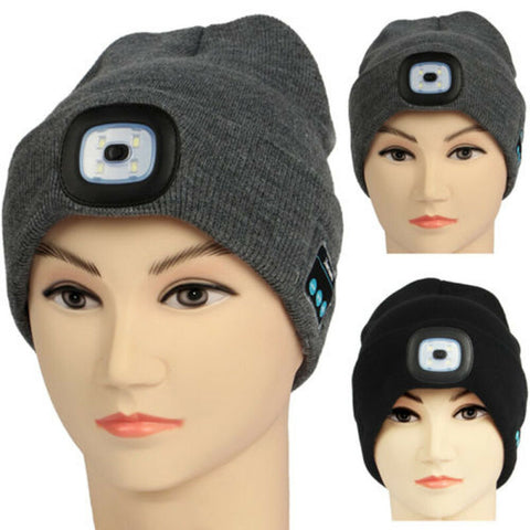 WARMER™-Bluetooth Beanie with LED Light