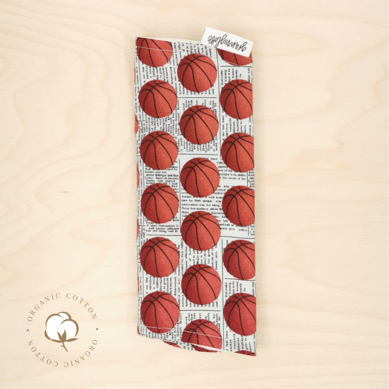 Organic Basketball Burp Cloth