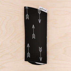 Arrows on Black Burp Cloth