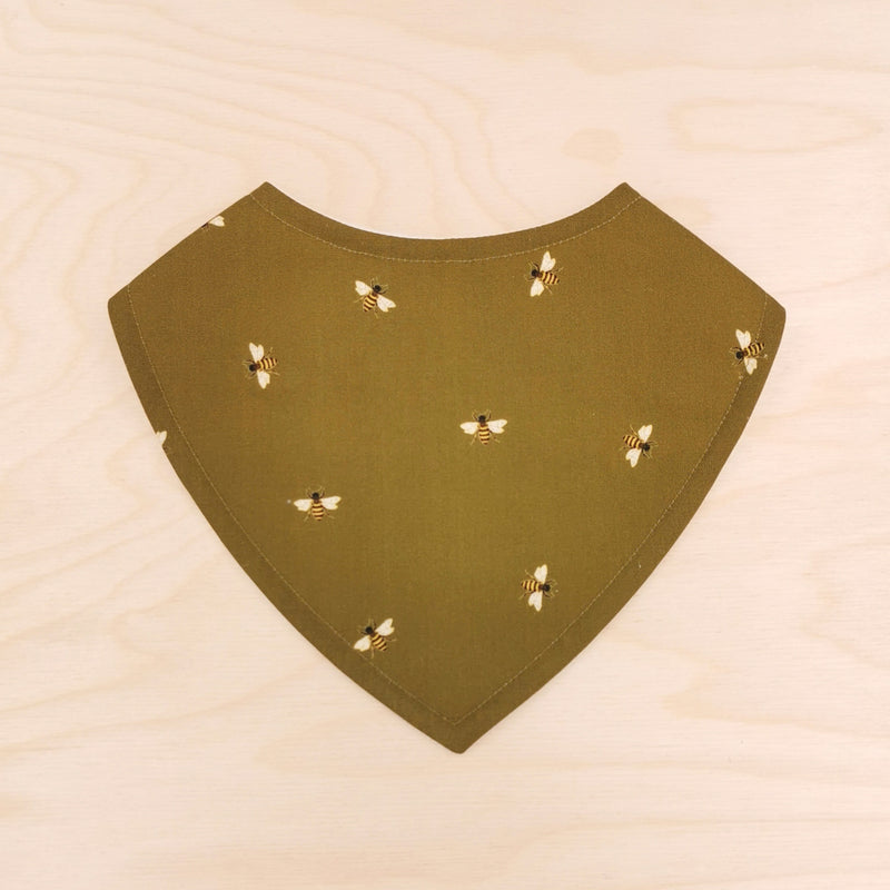 Bees on Olive Dribble Bib