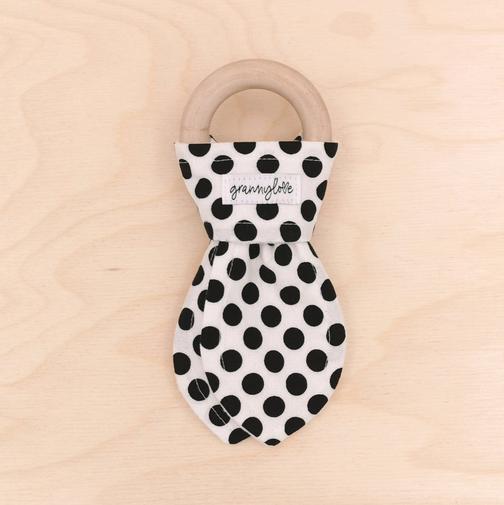Black Spot Teething Ring