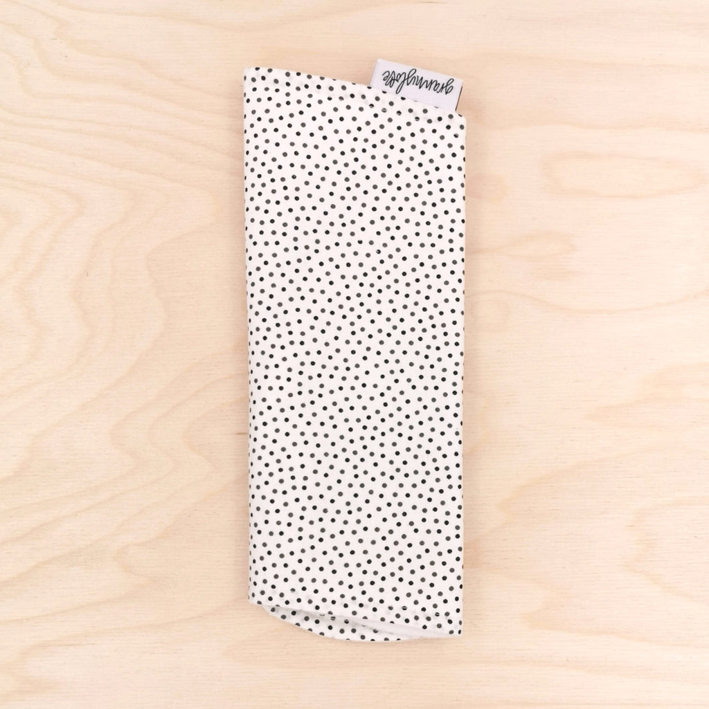 Black/Olive Pin Spot Burp Cloth