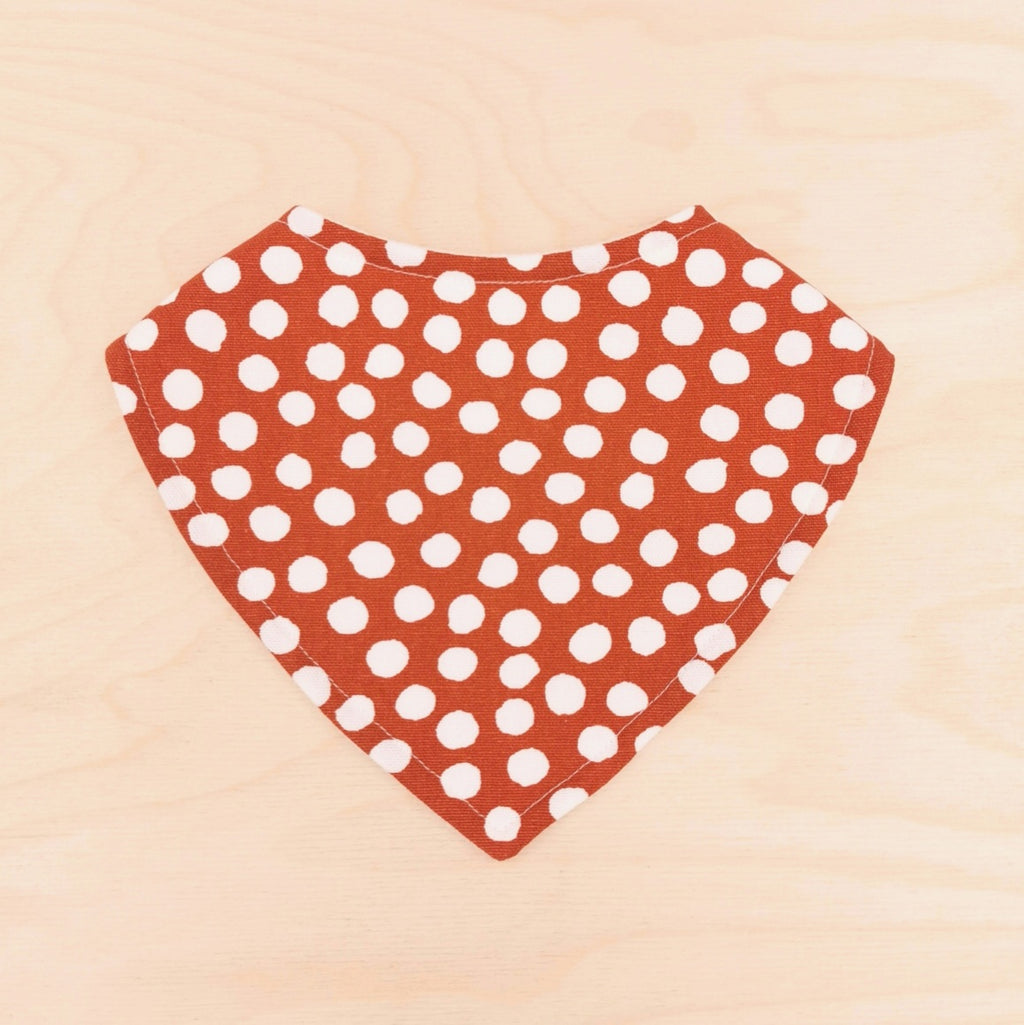 Chilli Polka Dot Dribble Bib