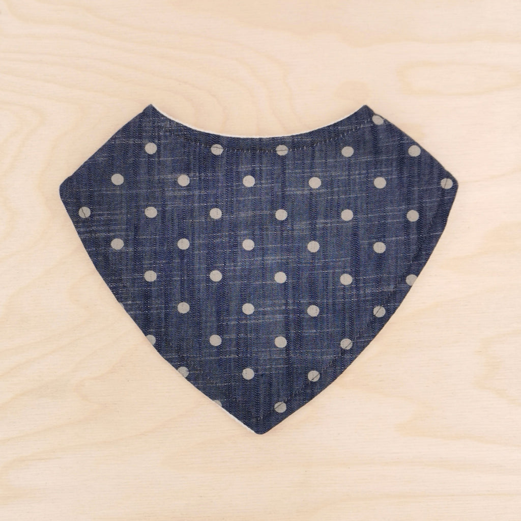 Denim Spot Dribble Bib