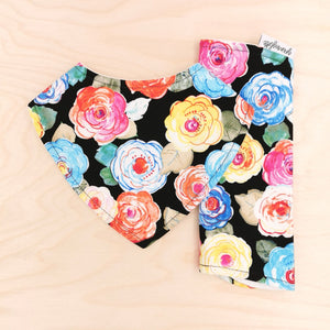 Floral Delight Dribble Bib & Floral Delight Burp Cloth