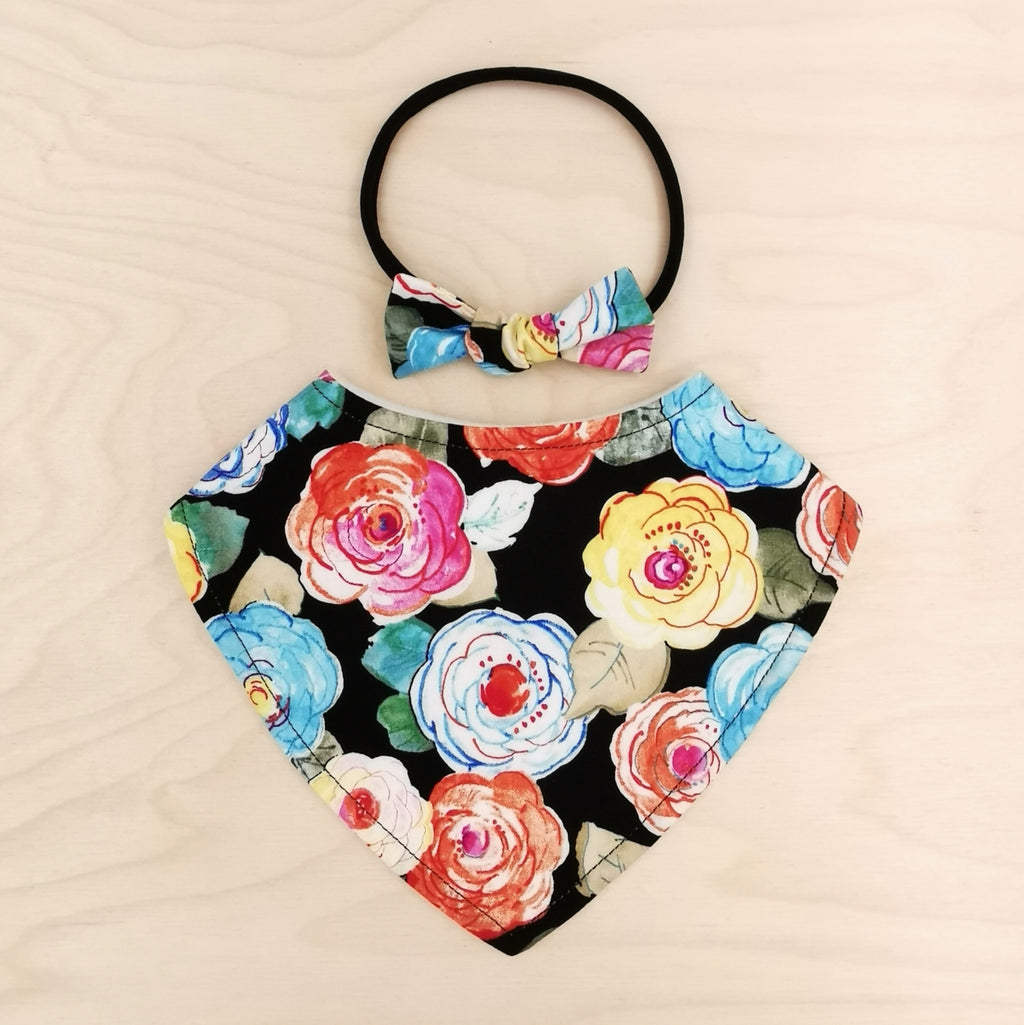 Floral Delight Dribble Bib & Floral Delight Little-Bow