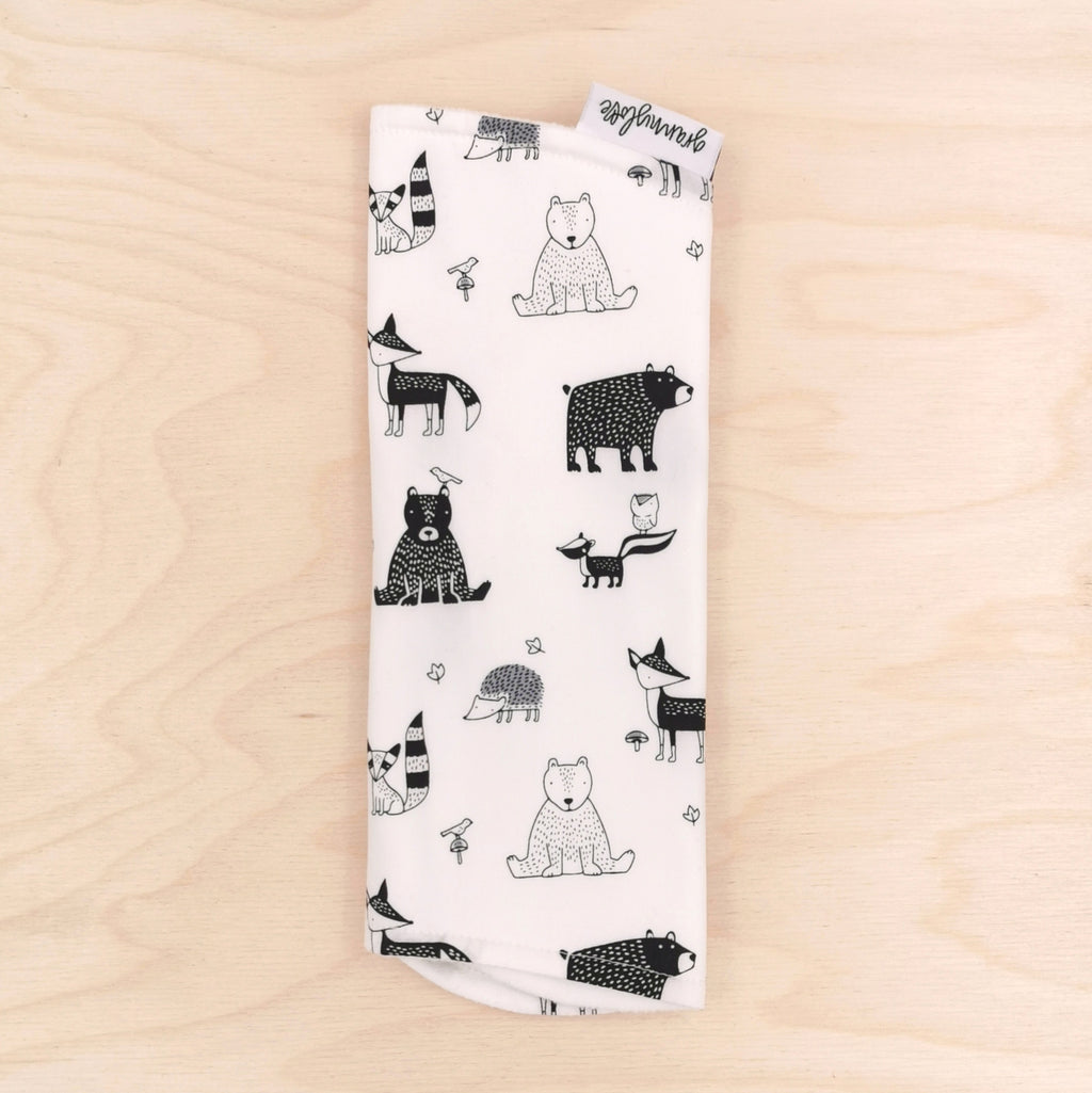 Forest Friends B&W Burp Cloth