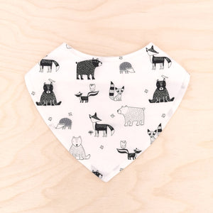 Forest Friends B&W Dribble Bib