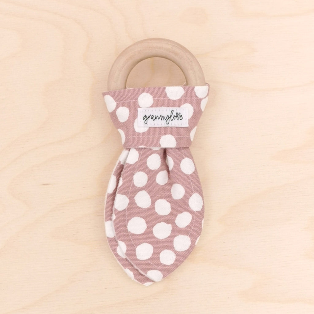 Bloom Polka Dot Teething Ring