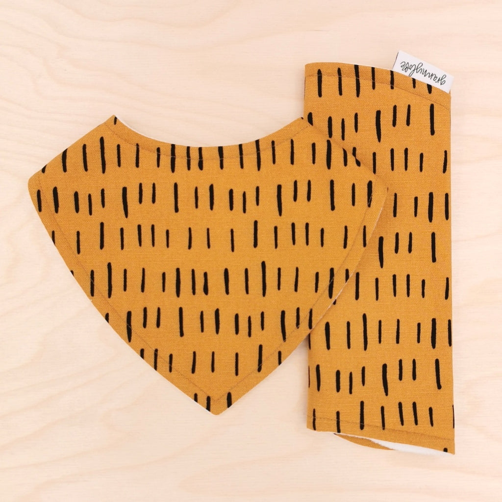Mustard Dash Dribble Bib & Mustard Dash Burp Cloth
