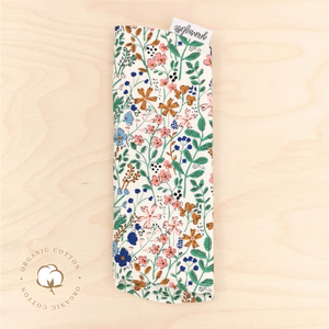 Organic Wildflower Beauty Burp Cloth