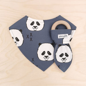 Panda Dribble Bib & Panda Teething Ring