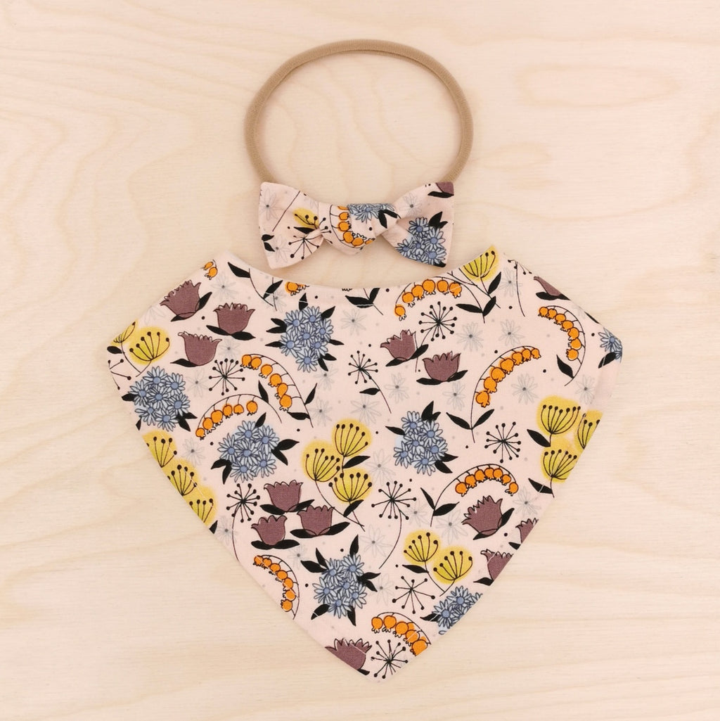 Summer Blooms Dribble Bib & Summer Blooms Little-Bow