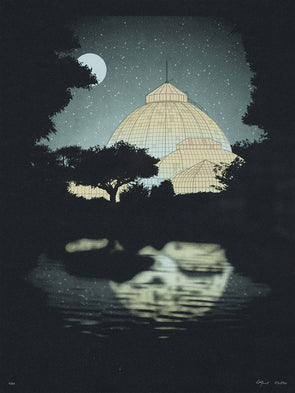 Belle Isle Conservatory Screen Print