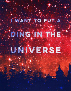 Ding In the Universe Screen Print