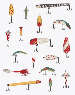 Fishing Lures Screen Print