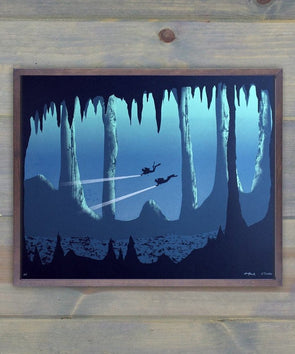 Glow in the Dark Screen Print: Into the Depths