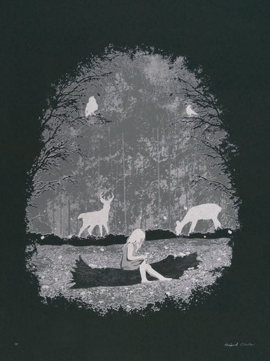 Luminescent Forest Glow-in-the-Dark Screen Print