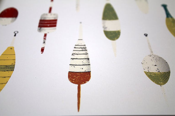 Fishing Bobbers Screen Print