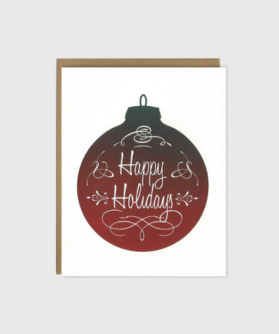 Happy Holidays Split Fountain Boxed Cards