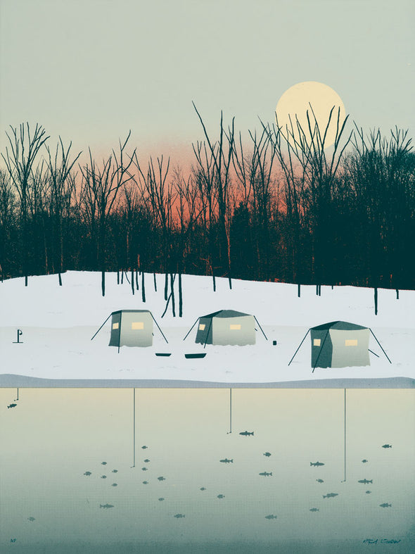 Ice Fishing Screen Print