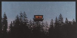 Lookout Tower Metallic Screen Print