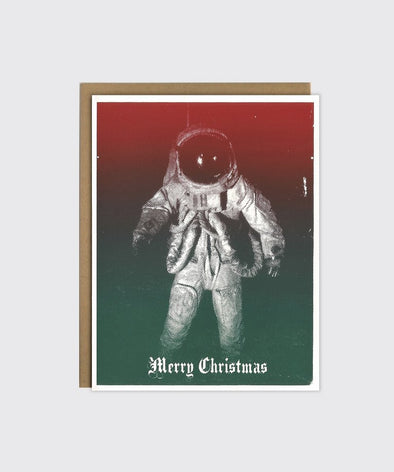 Merry Astronaut Christmas Card