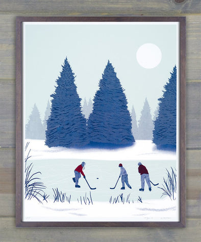 Pond Hockey Screen Print