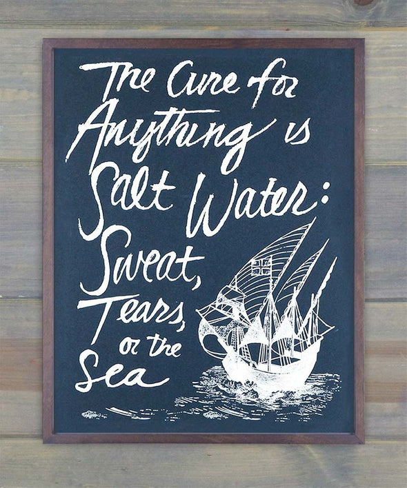 Salt Water Cure Print