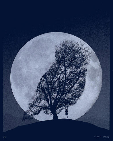 Supermoon Owl Screen Print