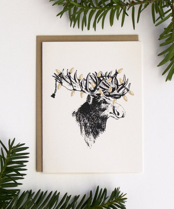 Christmas Moose Holiday Card