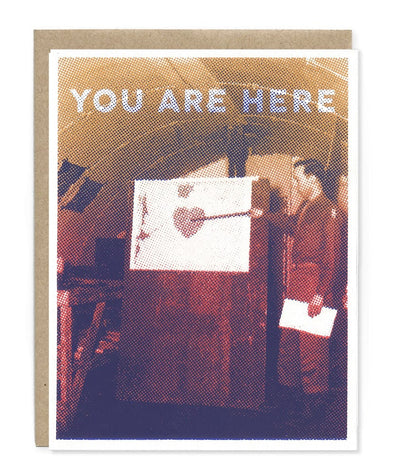 You Are Here Heart Card