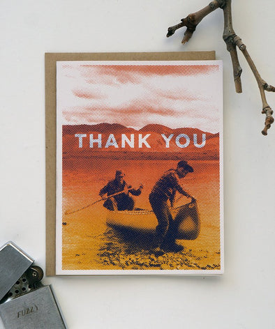 Canoe Thank You Card
