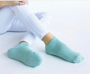 Classic Low Rise Non-Slip  Grip Socks - Sparkle Mint - Small