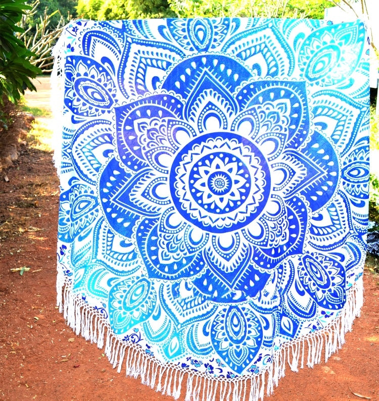 Sky Blue Ombre Throw