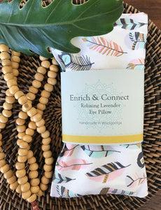 Enrich and Connect Relaxing Eye Pillow - Feathers