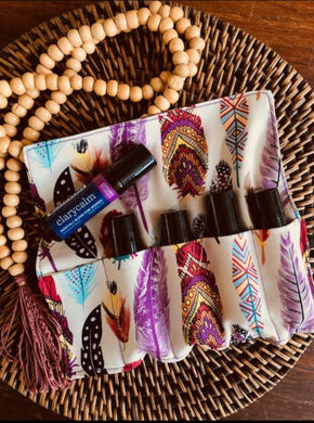 Essential Oil Rollerball Pouch - Boho Style